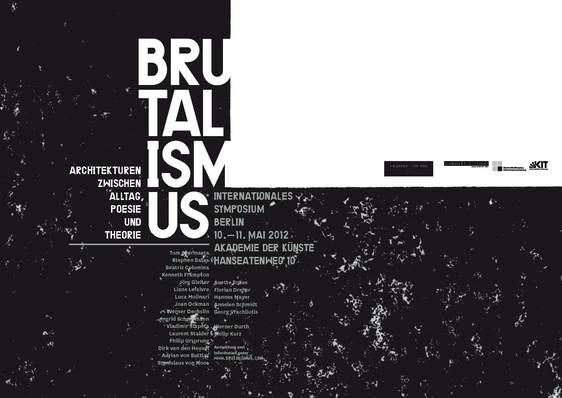 Kit veranstaltungen symposien brutalismus for Architektur brutalismus